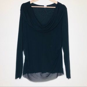 Sweet Pea by Stacy Frati Black Sheer Blouse